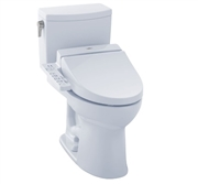 Drake II 1G Washlet + C100 Two Piece 1.0 GPF Toilet by TOTO