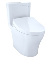 Aquia IV 1G Washlet + S500e Two Piece Toilet 1.0 & 0.8 GPF by TOTO
