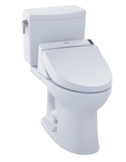 Drake II 1G Washlet + C200 Two Piece 1.0 GPF Toilet by TOTO