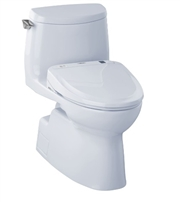 Carlyle II 1G Washlet + S300e One Piece 1.0 GPF Toilet by TOTO
