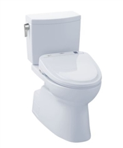 Vespin II 1G Washlet + S350e Two Piece 1.0 GPF Toilet by TOTO