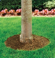 "24"" Recycled Rubber Mulch Tree Ring Mat"