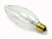 9,000 Hour Long Life Chandelier Light Bulbs (Candelabra or Medium Base), 25 Pack