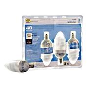 7 Watt Compact Fluorescent Chandelier Bulb  3 Pack