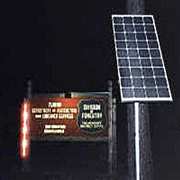 Solar Sign Lighting for Community Entrance or Remote Commercial Signs