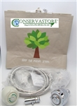 Sav-Eco Water Conservation Kit by Conserv-A-Store -with Low Flow Shower Head Expert
