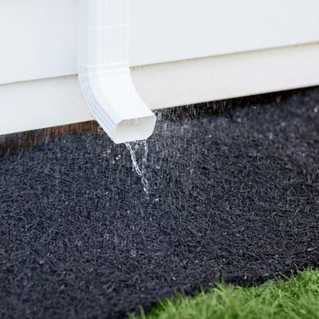 drain from runoff to prevent puddles